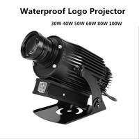 Aluminum Alloy Silver OUTDOOR 4500Lumens Gobo Projector Waterproof 30W 40W 50W 60W 80W 100W Custom Image Projectors Light Image