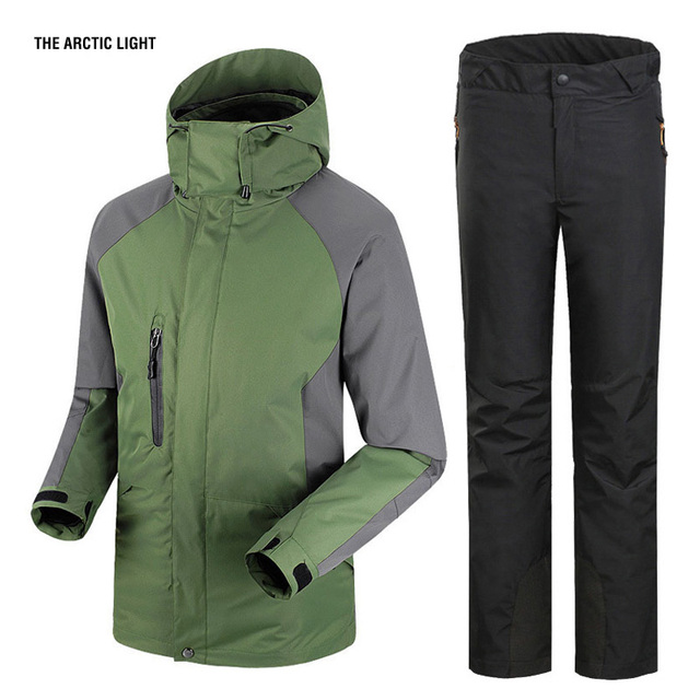 Homme 1 Et Sport Pantalon Épaississent En Étanche Trekking Ski Randonnée 3 Veste Camping Hiver Ensemble X46vrwqA4x