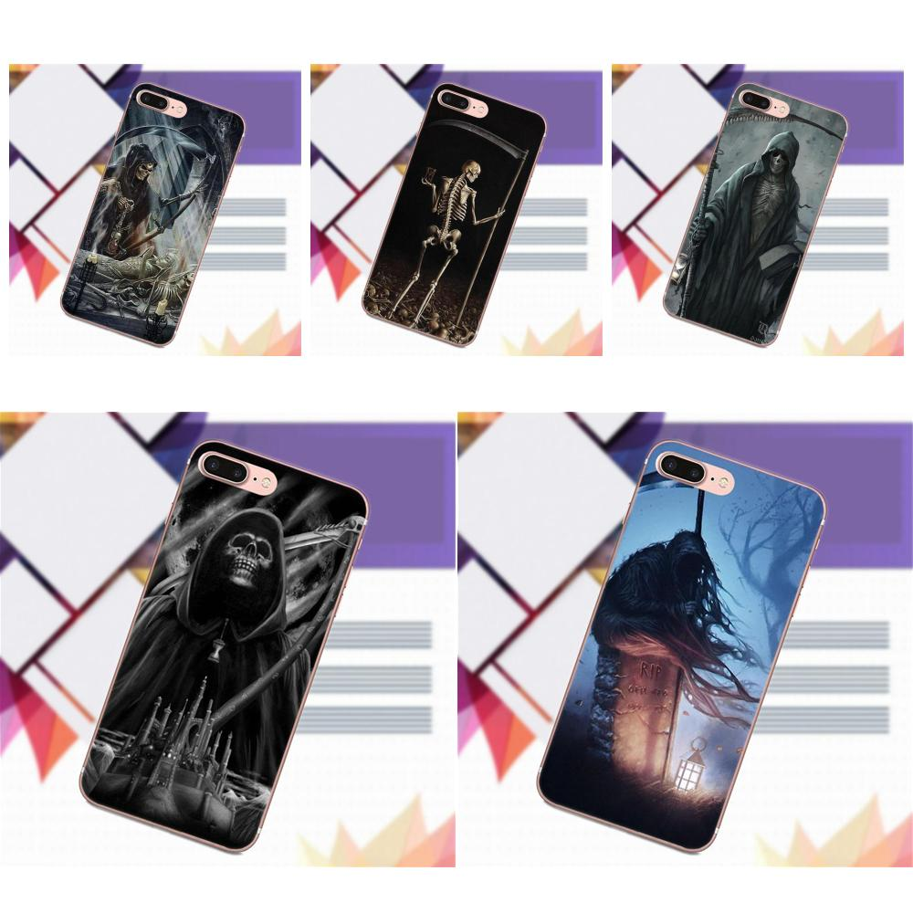 US $0 99 |Phone Case Cover Grim Reaper Gothic Death Angel For Xiaomi Redmi  5 4A 3 3S Pro Mi4 Mi4i Mi5 Mi5S Mi Max Mix 2 Note 3 4 Plus-in Half-wrapped