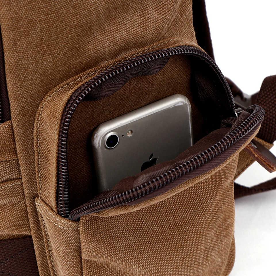Мужской холщовый рюкзак мужской вместительный рюкзак 15.6'' 17-дюймовый ноутбук сумки Открытый путешествия Back Pack-подростков багаж для путешествий альпинизмом