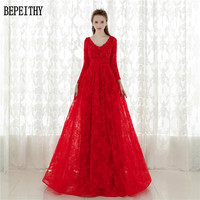 Vestidos De Festa Red Lace Long Evening Dress 2015 New Arrival Formal Dresses Fast Shipping Cheap