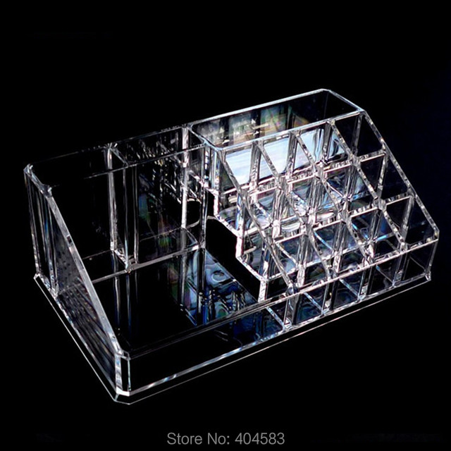 High Grade Popular Crystal Clear Makeup Jewelry Cosmetic Storage