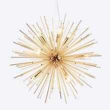 Luces colgantes de estilo nórdico para sala de estar, lámparas de mano antiguas, iluminación LED artística dorada, Luminaria Industrial, decoración moderna para el hogar