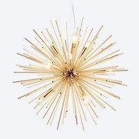 Nordic открытый подвесные светильники под старину гостиная люминесцентные лампы золото художествсветодио дный енный светодиодное освещение