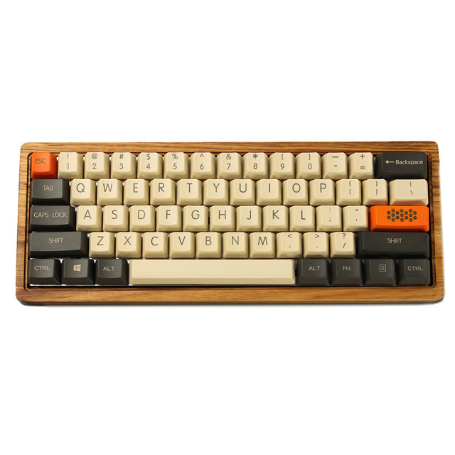 YMDK Carbon 61 87 104 Top Print Keyset Thick PBT OEM Profile Keycaps Suitable For MX Mechanical Keyboard