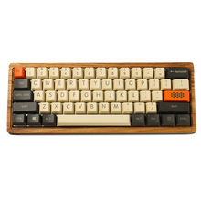 YMDK Teclado mecánico de carbono 61 87 104, teclas de perfil OEM gruesas PBT con estampado superior en blanco, adecuado para teclado mecánico MX