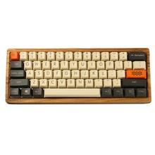 Ymdk teclado em branco com 87 104 de carbono, teclado para impressão superior e com perfil de pbt, adequado para teclado mecânico mx