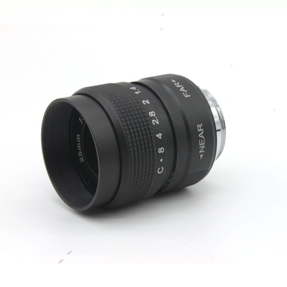 FUJIAN 25mm f 1 4 CCTV Lens E Mount Macro Ring for Sony NEX3 NEX C3 NEX F3 NEX 5 NEX 5N NEX 5R NEX 5T NEX 6 NEX 7 in Camera Lens from Consumer Electronics