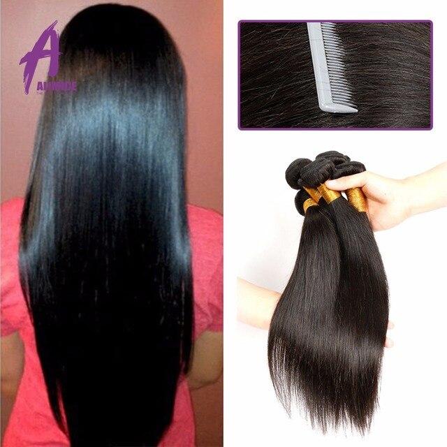 3 Bundles Cheap Alimice Brazilian Hair 100% Unprocessed Human Hair Weave Bundles Brazilian Straight Virgin Hair Brazilian Hair