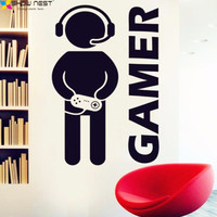 Video Game Gamer Gaming Joystick Wall Decal Art Home Decor Adhesive Decorative Vinyl Wall Wallpaper Wall