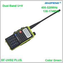 Original BaoFeng BF-UVB2 Plus two way radio Dual Band Baofeng BF UVB2 Walkie talkie Green Color w/Earpiece