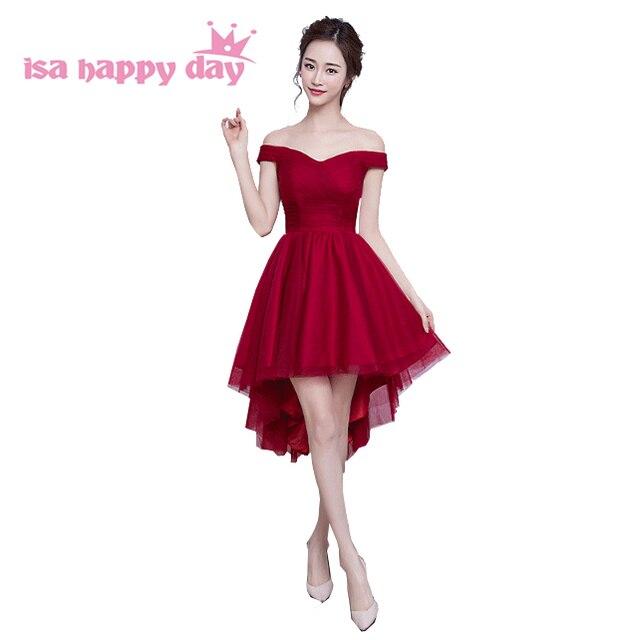 8ba8a20268 Color champagne damas de honor de las mujeres del verano corto hermoso vestidos  de fiesta negro