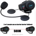 Newest 500M Helmet Intercom BT Bluetooth motorbike Interphone headset Bluetooth motorcycle helmet intercom