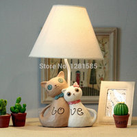 Table lamps Lovers cat style lamp for children bedroom cute desk lamp 19cm*42cm abajur lamp for kids reading