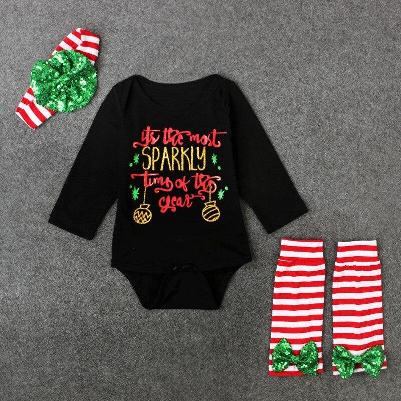 828f9fdf45817 Preto 2 pcs Bodysuits Perna Quente Roupas Da Moda Das Meninas do Menino Do  Bebê Recém-nascido Roupas Definir Roupas Roupas de Natal