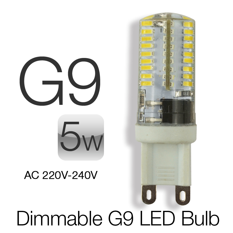 5pcs g9 led 5w dimmable 220v 240v mini corn light bombillas g9 led bulbs smd - G9 Led Bulb