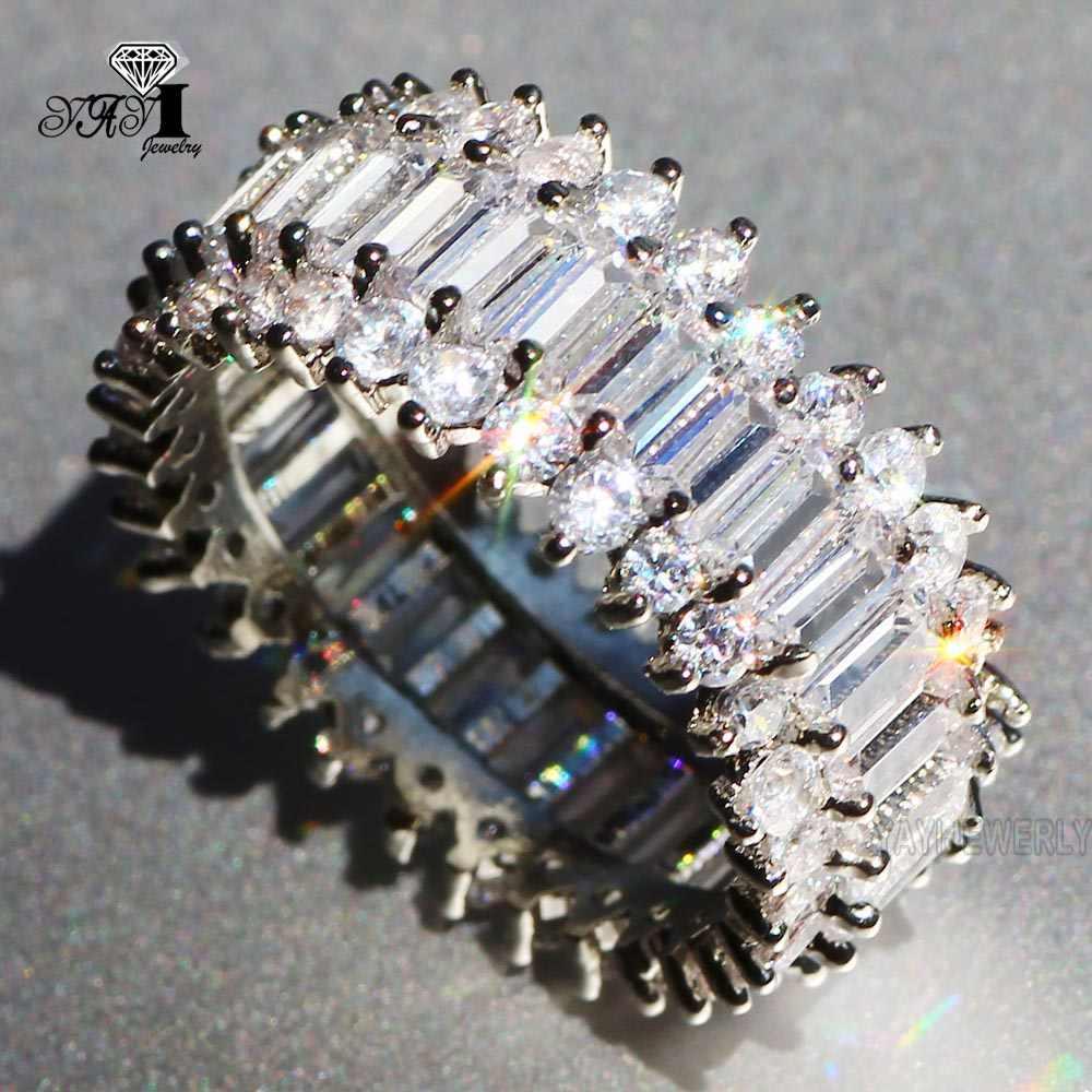 Ювелирные изделия yayi принцесса огранка 5,9 карат Мульти циркон серебряный цвет обручальные кольца с сердцем вечерние кольца для девочек Подарки