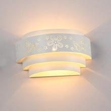 Morden lâmpadas de parede led minimalista, esculpidas, borboleta, flor, e27, para parede, para quarto, para corredor