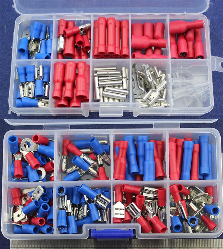 2 Kinds Terminal Kits to choose Assorted Crimp Spade Terminal Insulated Electrical Wire Connector Kit Set