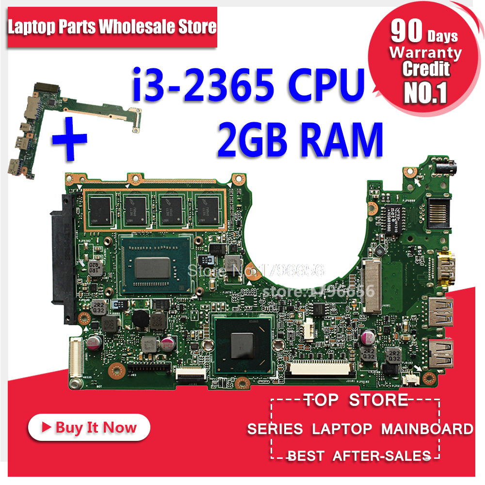 For Asus Motherboard Q200E S200E X201E X201EP X202E REV2.0 Mainboard With i3-2365 processor 2g memory on board fully tested x202e q200e s200e x201e laptop motherboard mainboard for asus with i3 2365cpu 4g ddr3 1333 mhz tested
