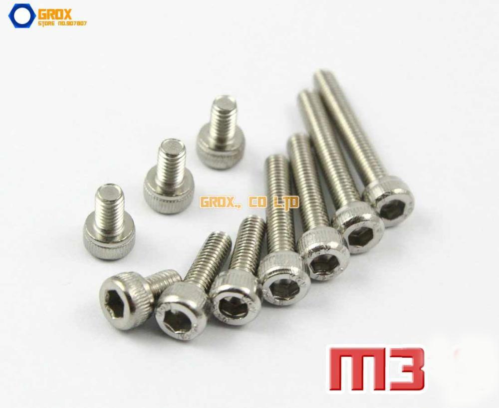 M3 304 Stainless Steel Allen Bolt Socket Cap Screws Hex Head DIN 912 m3 screws low profile cap screws socket head hex bolt stainless steel metric fastener