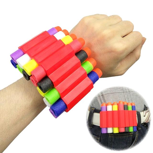 HongChi Toy Gun bullet Wristband For Nerf Gun Wrist strap Can hold soft  bullets Storage of