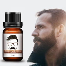1pcs 10ml Gentlemen Beard Oil Moisturizes Facial Hair Moustache Oils Pure Organic Beard Oil Growing