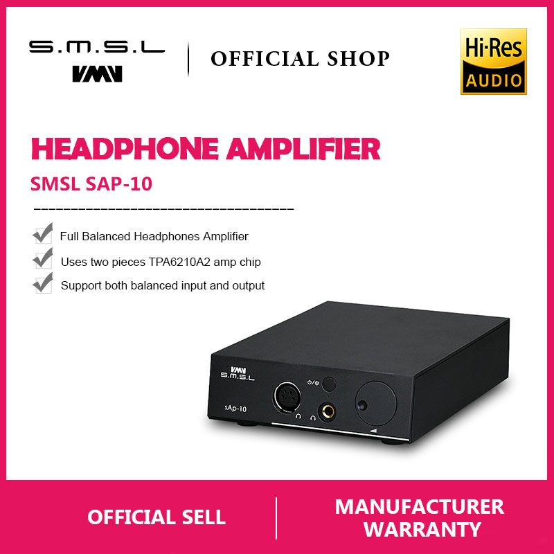 smsl sap 10 hi fi headphone amplifier full balanced output xlr and rca input built in linear. Black Bedroom Furniture Sets. Home Design Ideas