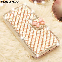 XINGDUO case for iphone 6 6S 8 7 Plus Glitter Beautiful butterfly Floral X XS XR MAX Bling Diamonds luxury cover