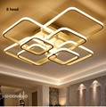 FREE Rectangle Acrylic Aluminum Modern Led ceiling lights for living room bedroom  New White modern Ceiling Lamp Fixtures90-260V