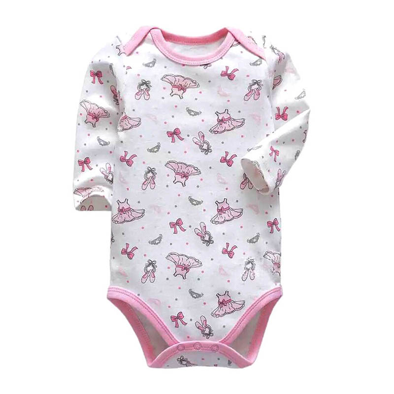 cb7dc293951ae New Baby Bodysuit Lovely Printing Infant Jumpsuit Pure Cotton Short ...