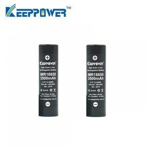 Image 2 - מקורי 2 Pcs KeepPower IMR 18650 סוללה IMR18650 3500mAh 3.7V מקסימום 20A פריקה גבוהה כוח סוללה NH1835 drop חינם