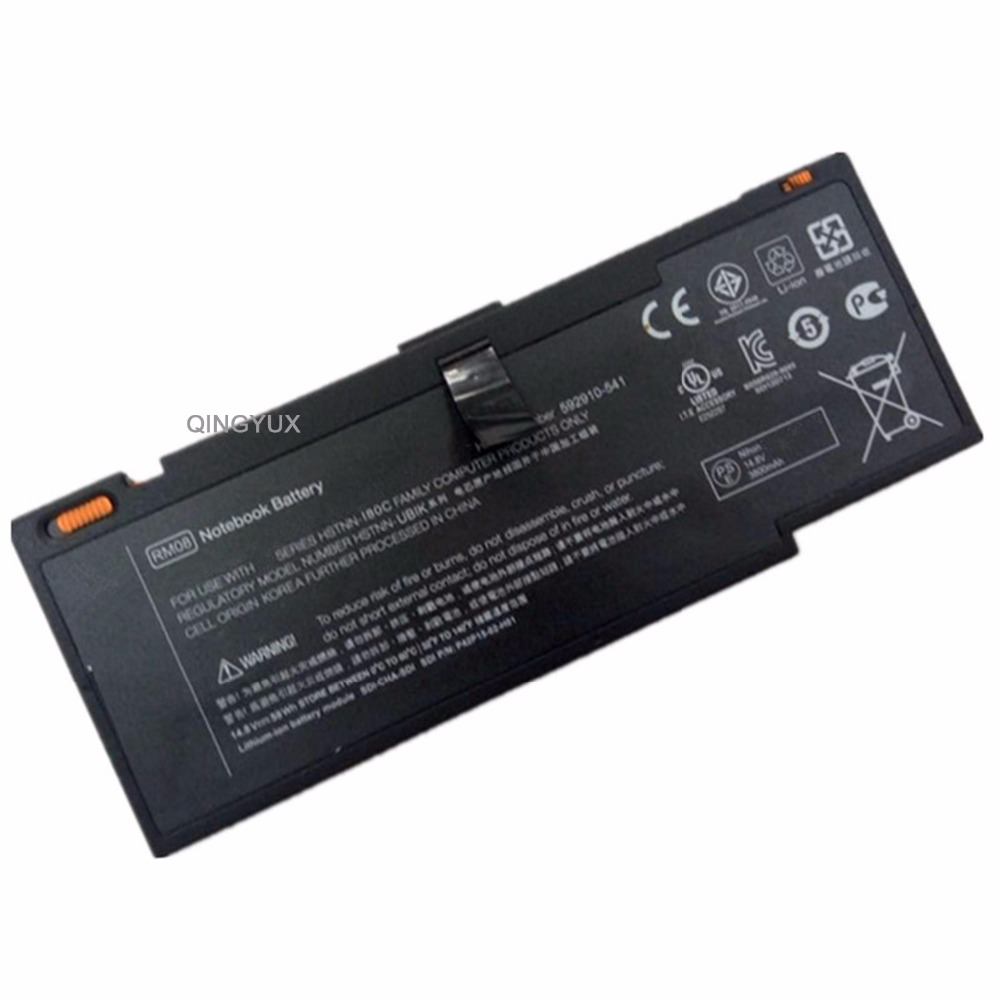 QINGYUX New RM08 14.8V 59Wh 8Cell Laptop Battery for HP Envy 14 HSTNN-OB1K HSTNN-I80C 593548-001 LF246A 14-1000 592910-351 QINGYUX New RM08 14.8V 59Wh 8Cell Laptop Battery for HP Envy 14 HSTNN-OB1K HSTNN-I80C 593548-001 LF246A 14-1000 592910-351