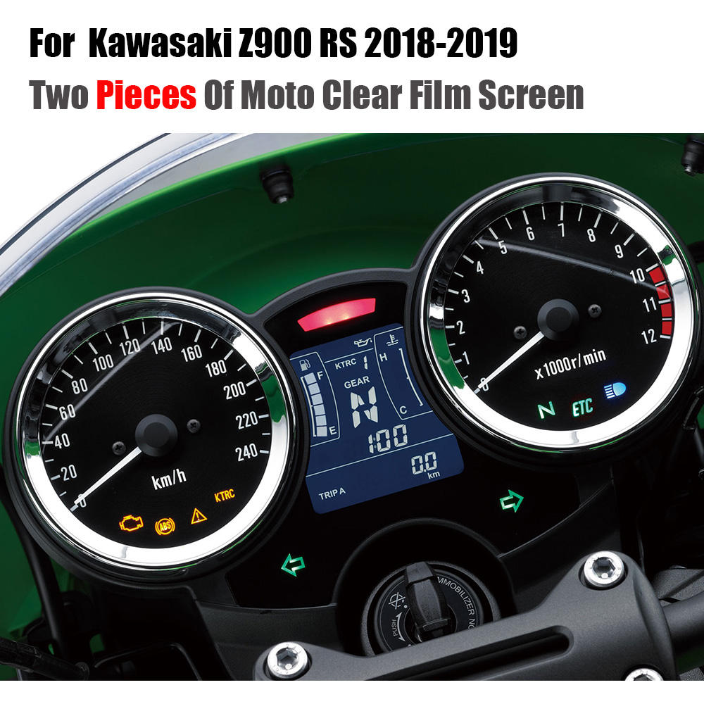 Cluster Scratch Protection Film Screen Protector TPU For <font><b>Kawasaki</b></font> <font><b>Z900RS</b></font> <font><b>Z900</b></font> <font><b>RS</b></font> 2018 2019 image