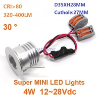 D35XH28MM AC85 265V DC12 28V 4W COB downlight Bright Led Recessed Spot light Pure White Warm white Kitchen 5 years warranty Downlights     -