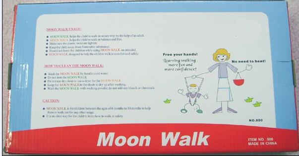72 шт. Moonwalk ходунки малыш хранитель Малыш ремни младенческой ходьбы обучения помощник с коробками - Цвет: Orange With Boxes