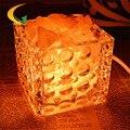 Quarto dimmer lâmpada de cabeceira de iluminação da lâmpada incandescente Nightlight criativo Marrocos oco de vidro lâmpadas de sal