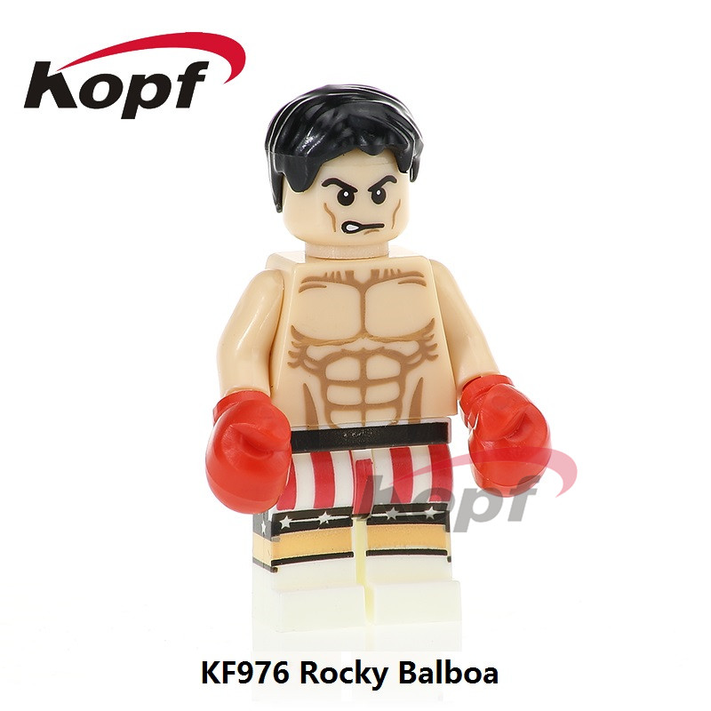 Single Sale Super Heroes Rocky Balboa Carnage Spiderman Felicity Smoak Bricks Education Building Blocks Children Toys Gift KF976 single sale building blocks super heroes bob ross american painter the joy of painting bricks education toys children gift kf982