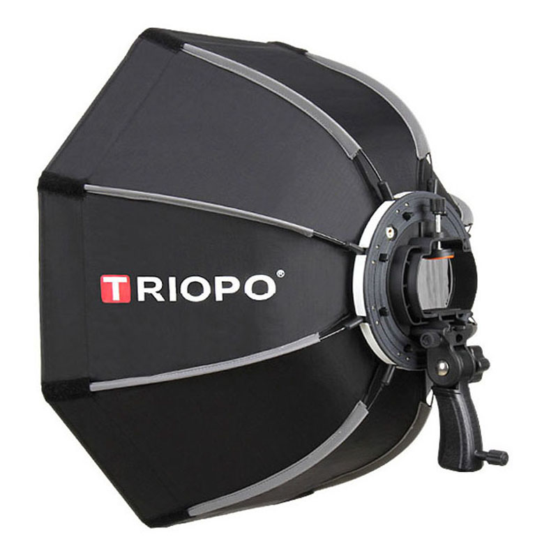 TRIOPO 65cm Portable Outdoor Octagon Umbrella Softbox for Godox V860II TT600 TT685 YN560 III IV TR