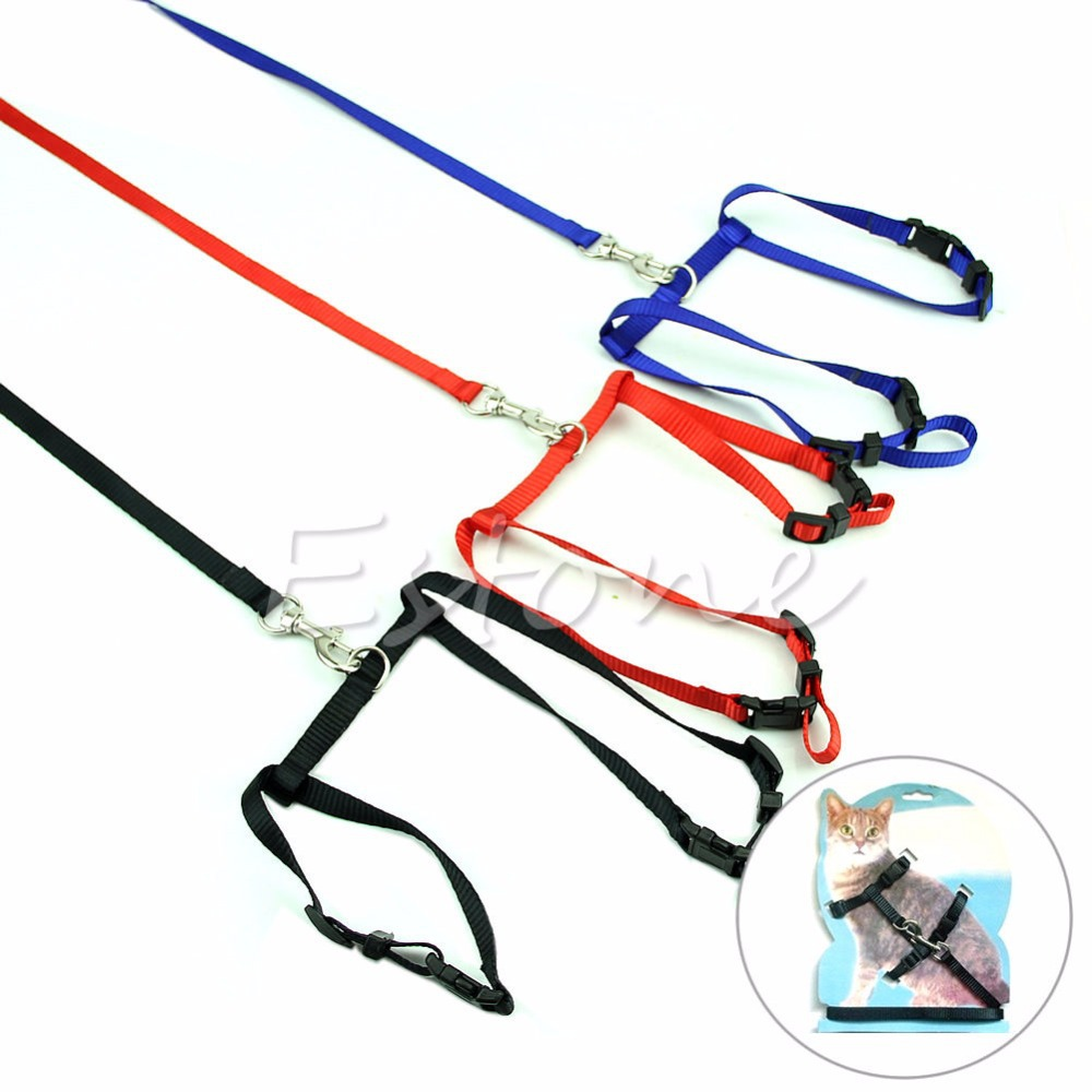 Adjustable Nylon Rope Pet Dog Pup Head Collar Cat Lead Leash Harness Walk Strap