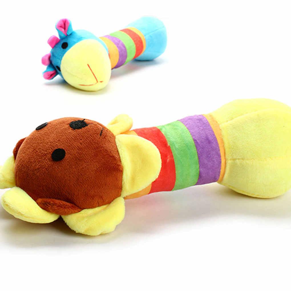 Новый плюшевый жираф, Лев панда пищащая игрушка для питомца жевательная игрушка для домашних животных звуковая игра кукла собака жевательные плюшевые PP палка