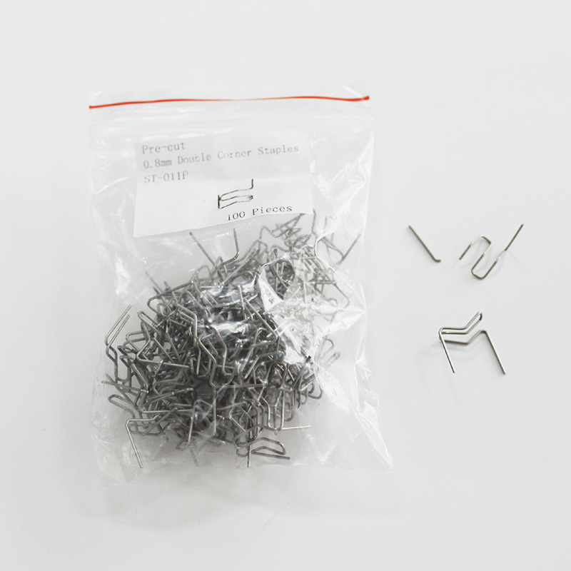 0 8mm pre cut curved double corner hot stapler replacement staples in Welding Wires from Tools