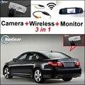 3 in1 Cámara + Receptor Inalámbrico + Monitor Del Espejo Retrovisor Especial Fácil Sistema de Aparcamiento Para Lexus LS460 LS600h 2006 ~ 2014
