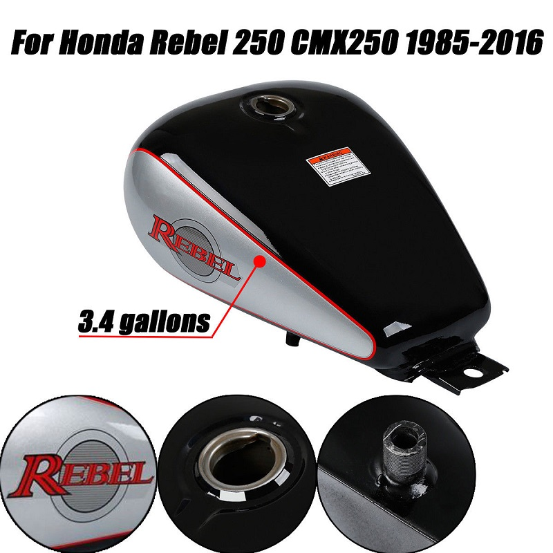 Motorcycle New 3 4 gallons Fuel Gas Tank For Honda CMX 250 CMX250 Rebel 1985 2016