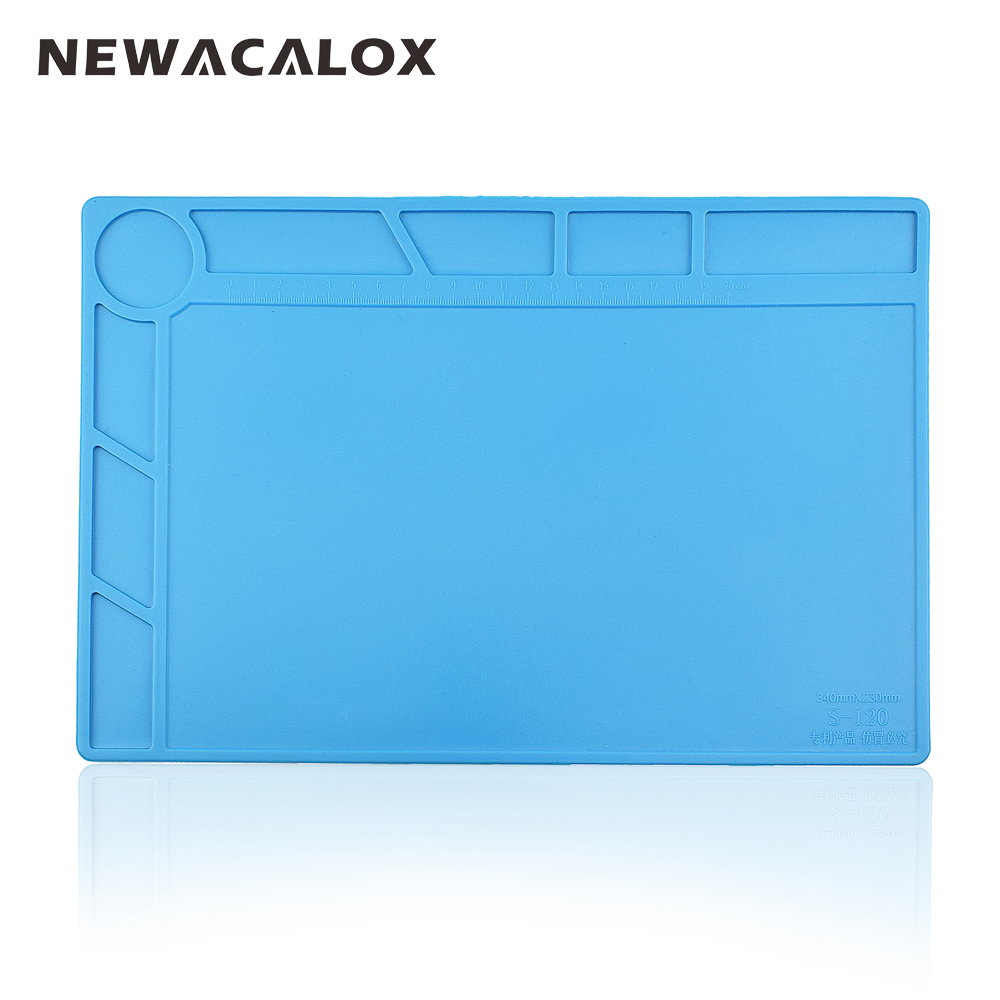 NEWACALOX High Temperature Resistance Precision Maintenance Sil Icone Pad Size:34cm*23cm Environmental Protection Not Hardened цены онлайн