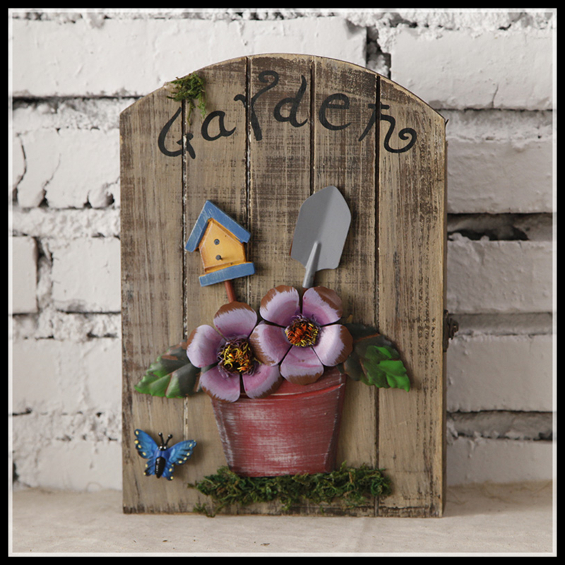 Wooden Box Wall Decor : Hanging elimelim decorations vintage wood key box wall