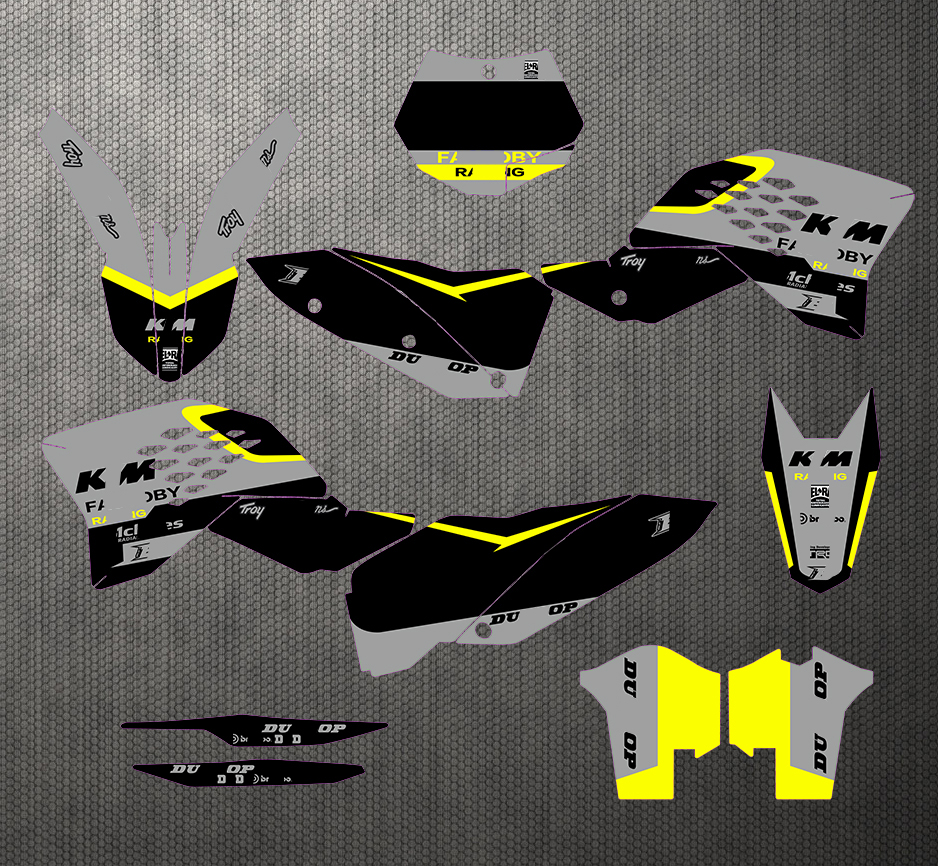 Free Customized Graphics Backgrounds Stickers Kit Decal Black For KTM SX F SX 2007 2010 07