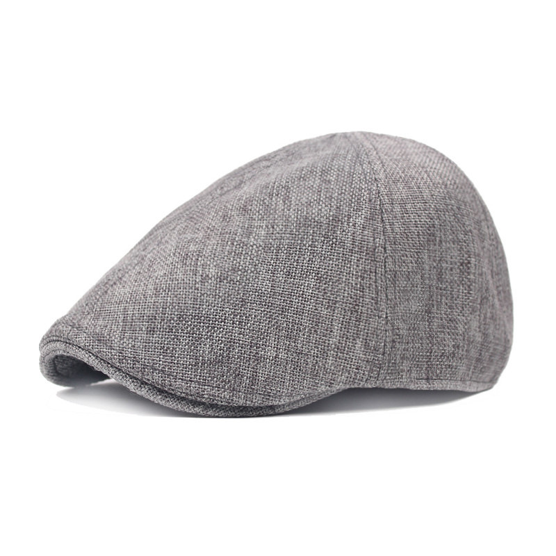 Coarse Cloth Peaked Cap Man Forward Hat Spring Summer Restore Ancient Ways Linen Beret Newsboy Cap Wholesale Drop Shipping
