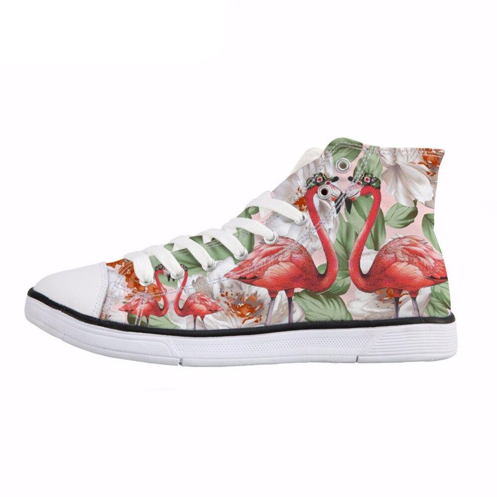 Imprimer Pour Sneakers h10120ak h10122ak Respirant h10119ak Top Étudiant Toile Printemps High h10118ak Customak D'été Vivid Chaussures h10121ak h10117ak Vulcaniser De Fille Femmes Noisydesigns Flamingo qEC4qwO