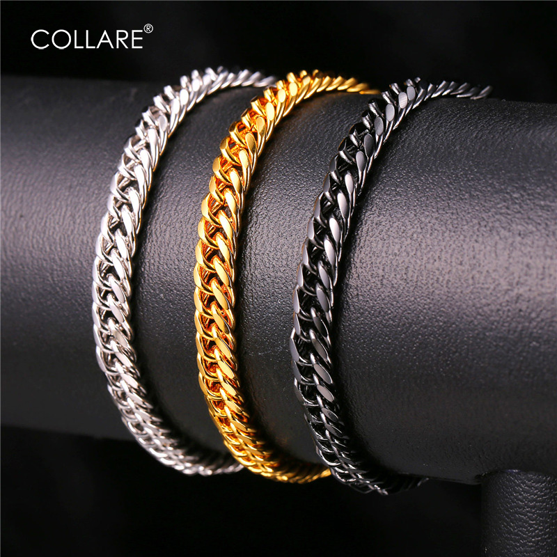Collare Hippie Bracelet Men Jewelry Gold/Silver/Black Color Ethiopian Bracelets & Bangles Link Hand Chain H703 candy coloured string hand chain bracelets